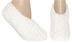 Capelli New York Ladies Bunny Pull On Slipper Socks with Grippers