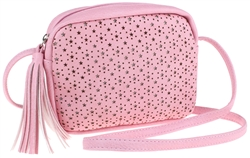 Star Perforated PU Cross Body Bag