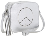 Peace Sign Cross Body PU Bag