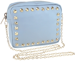 Cross Body PU Bag with Pyramid Stud Border