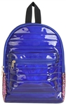 Metallic PU Mini Back Pack with Chunky Glitter