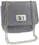 Coated Glitter PU Shoulder Bag
