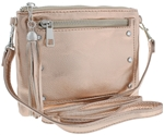 PU Crossbody Bag with Decorative Zipper