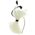 Capelli New York Ladies Headband Fascinator With Bow & Feathers