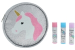 3pc Lip Balm Party Pack Set in Printed Zippered PU