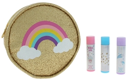 3pc Lip Balm Party Set in Prinetd Zippered PU