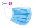 ADULT UNISEX DISPOSABLE 3 PLY NON-MEDICAL FACE MASK WITH EAR LOOPS FOR CIVIL USE ONLY.