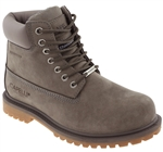 Capelli New York Men's Waterproof Nubuck Leather Work Boot with Memory Foam Insole Taupe 10