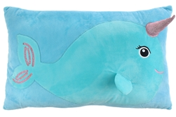 Nellie Narwhal Throw Pillow 22 X 15