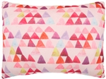Capelli New York Soft Boa Pillow-Watercolor Triangles