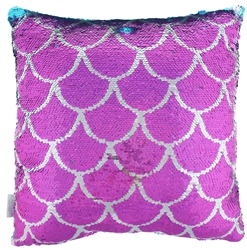 Reversible Sequin Pillow - Scales