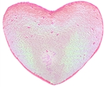 Reversible Sequin Heart Pillow with Gusset