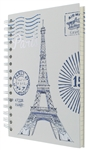 Spiral Notebook Journal Diary Notepad - Paris by Post