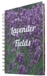 Spiral Notebook Journal Diary Notepad - Lavender Fields