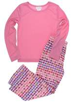 Capelli New York Girls Long Sleeve Top And Peace Printed Pant