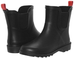 Capelli New York Boys Matte Solid Rubber Rain Boot Black 12/13