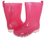 Capelli New York Girls Silver Glitter Rain Boot Pink Combo