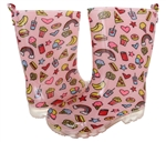 Capelli New York Girls Food Printed Rain Boot Pink Combo