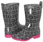 Capelli New York Girls Lace Printed Rain Boot