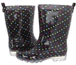 Capelli New York Girls Multi Dots Printed Rain Boot