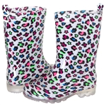 Capelli New York Girls Hearts and Stars Printed Rain Boot