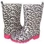 Capelli New York Girls Heart Printed Jelly Rain Boots