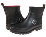 Capelli New York Ladies Matte Short Rain Boots with Ankle Buckle Strap