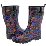Capelli New York Ladies Pretty Floral Printed Rain Boot
