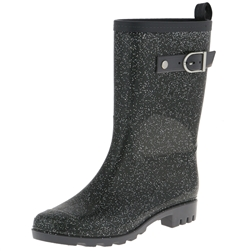 Capelli New York All-Over Glitter with Buckle Strap Ladies Short Rain Boot