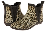 Capelli New York Ladies Leopard Print Short Rain Boot