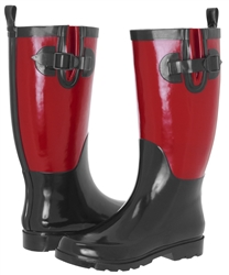 Capelli New York Ladies Two Tone Tall Rubber Rain Boot