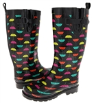 Capelli New York Umbrella Printed Tall Rubber Women's Rain Boot
