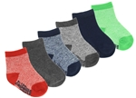 Capelli New York Infant Boys 6 Pack Crew Socks with Grippers