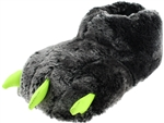 Capelli New York Boys Faux Fur Bear Claw Glow in the Dark Indoor Slippers