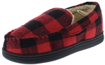 Capelli New York Boys Buffalo Plaid Moccasin with Faux Berber Lining