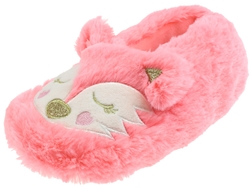 Capelli New York Girls Sleepy Fox Fur Moccasin