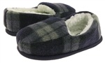 Capelli New York Toddler Boys Plaid Moccasin Slipper with Faux Berber Lining