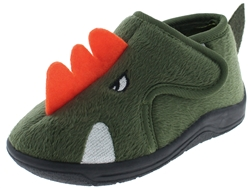 Capelli New York Toddler Boys Dinosaur Soft Moccasin with 3D Parts