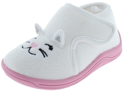 Capelli New York Toddler Girls Silly Cat Indoor Slippers 3D Appliques