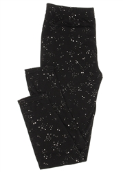 Capelli New York Toddler Girls Jersey Legging With Metallic Dots