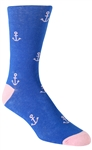 Stith Men's Anchor Printed Dress Socks