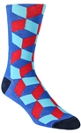 Stith Men's Half Cubed Printed Dress Socks