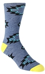 Stith Men's Lightning Tribal Printed Dress Socks