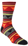 Stith Men's Triangle Tribal Printed Dress Socks
