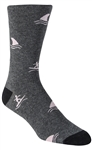 Stith Men's Surfers & Sharks Printed Dress Socks