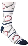 Stith Men's Base-Ball Printed Dress Socks