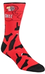 STITH Men's Movies & Chill Printed Dress Socks