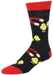 STITH Men's Chick Magnet Print Crew Socks