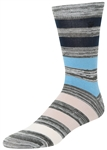 STITH Men's Marled Ombre Stripes Print Crew Socks