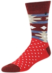 STITH Men's Americana Tribal Print with Marled Yarn Print Crew Socks
